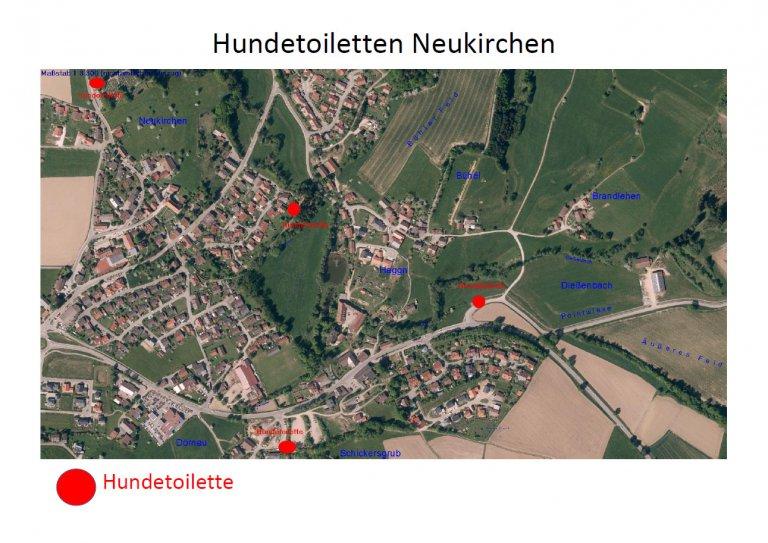 Standorte der Hundetoiletten in Neukirchen