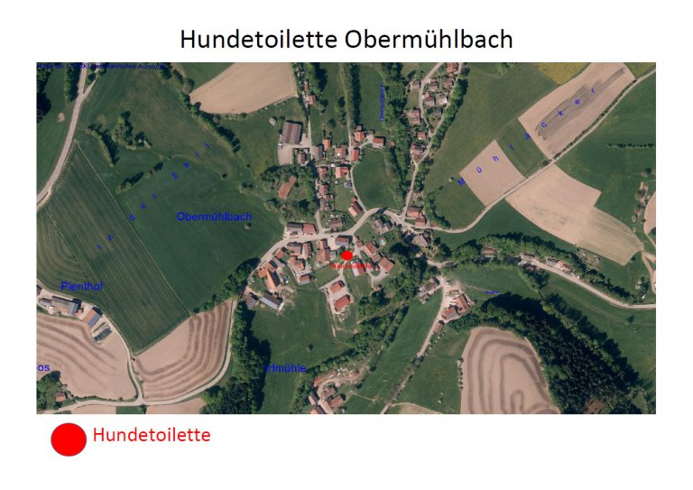 Standort der Hundetoilette in Obermühlbach