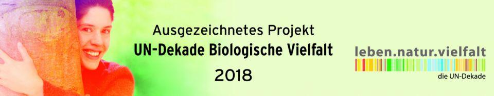 Netzwerk Streuobst Bayerischer Vorwald - Banner UN-Dekade Biologische Vielfalt 2018